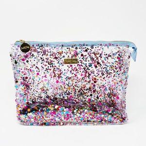 Confetti Glitter Biggie Cosmetic Zip Bag Travel
